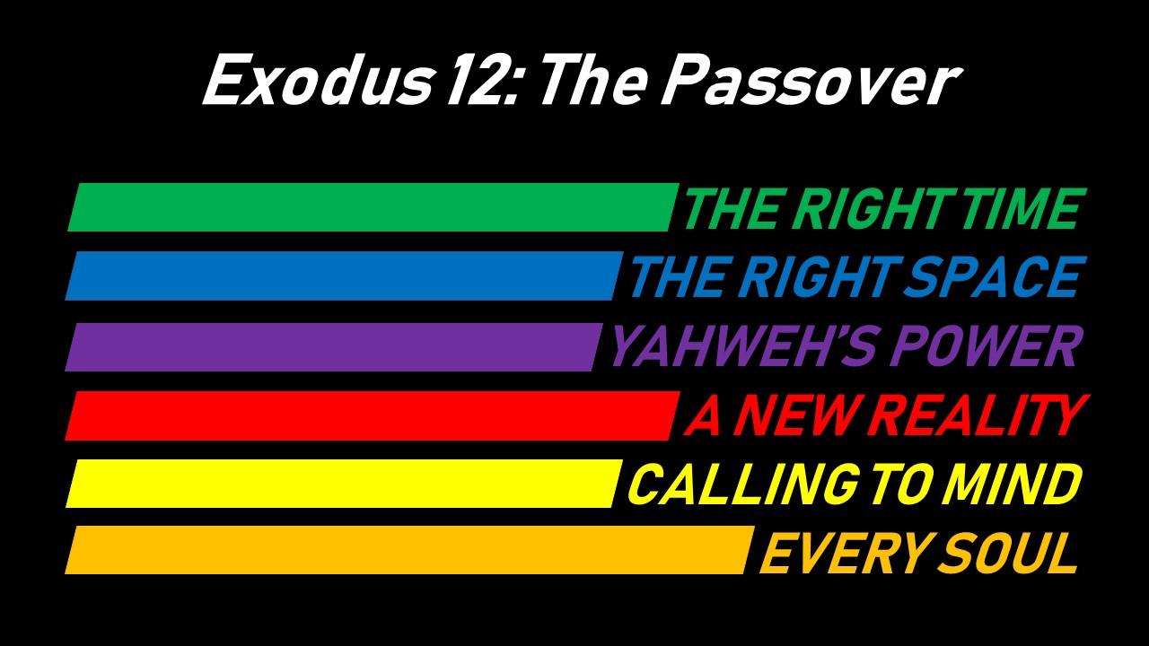 Exodus 12 6th May 2018